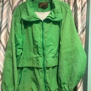 Eddie Bauer Womans ZIP Up Jacket Lime Green XL